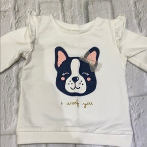 Adorable white ruffle sweater 12 months